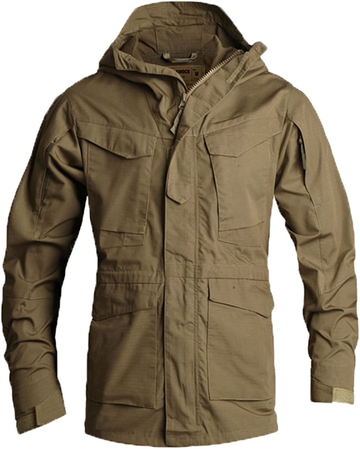 Flygo Men's Oklahoma City Mall Classic Ranking TOP2 M65 Field Jacket Hooded Tactical Lightweight