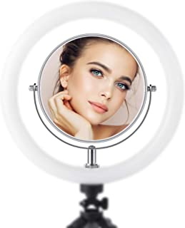 "GIM Makeup Mirror Double Sided Magnifying 1X & 3X,5.9""x5.9"" Inch with 360 Degree Rotation- (Accessories for Selfie Ring Light) for Home"