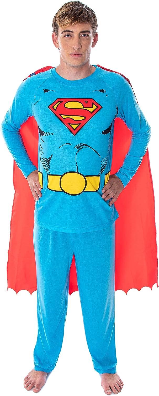 Sale item DC Comics Men's Superman Classic Costume Max 79% OFF Superhero Raglan Shirt