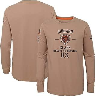 Nike Chicago Bears Youth Boys 2019 Salute to Service DRI-FIT Long Sleeve Shirt - Tan