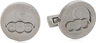 Diamond Moon Stainless Steel Cufflinks for Men, Stainless Steel - 1800541240422