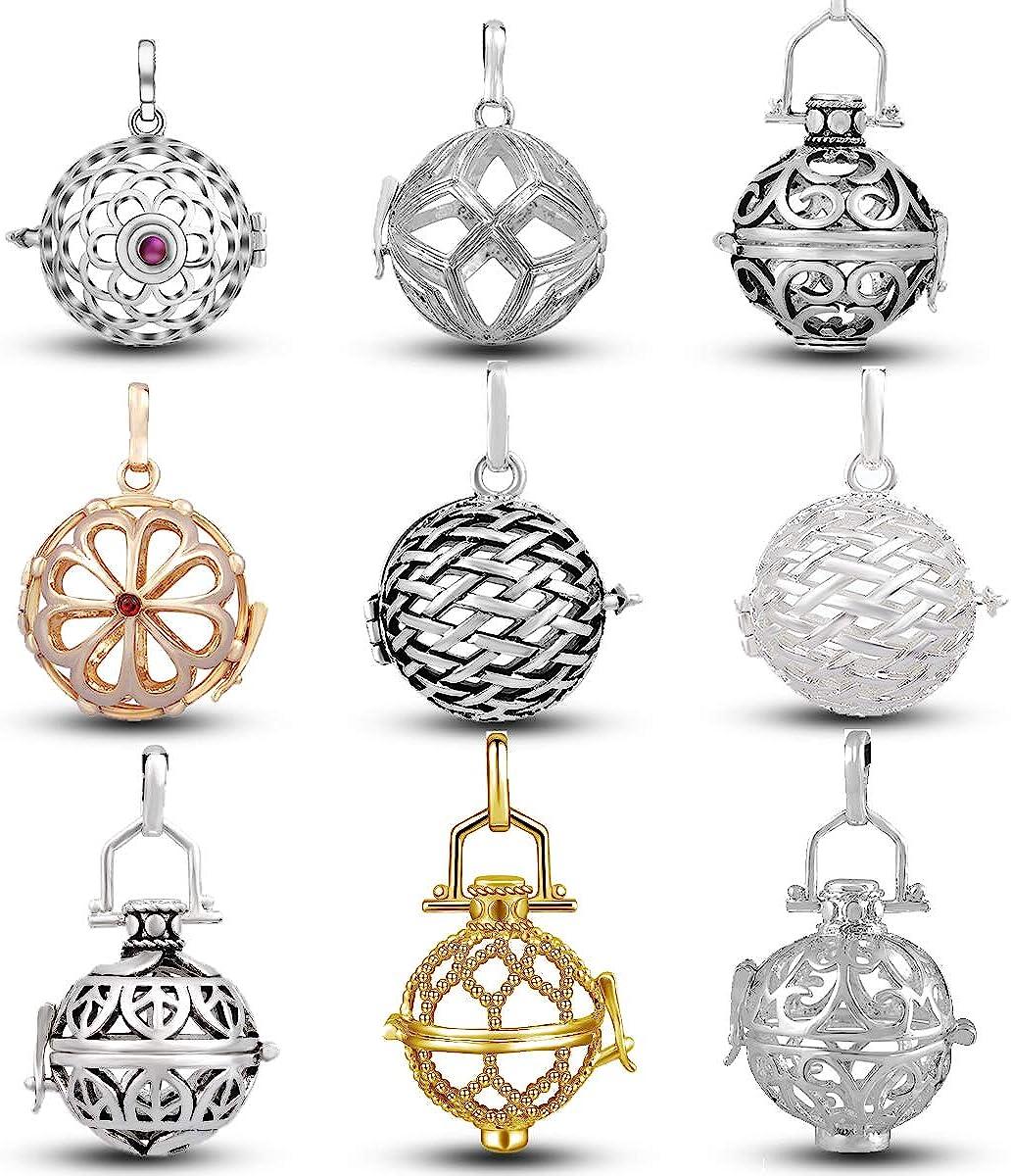 Ranking TOP12 EUDORA 9pcs Harmony Ball Sterling Lockets Plated Popular standard Silver Pendant
