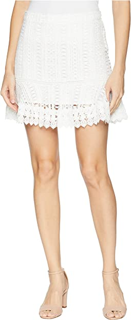 BB Dakota Lucine Lace Ruffle Skirt