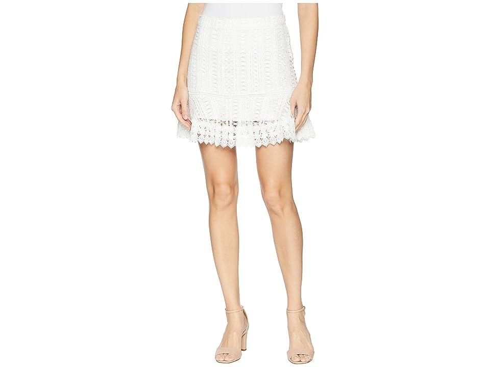 BB Dakota Lucine Lace Ruffle Skirt (Ivory) Women