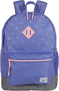 Herschel Supply Co. Girl's Heritage XL Backpack (Little Kids/Big Kids) Dusted Peri Heat Press Polka/Raven Crosshatch One Size