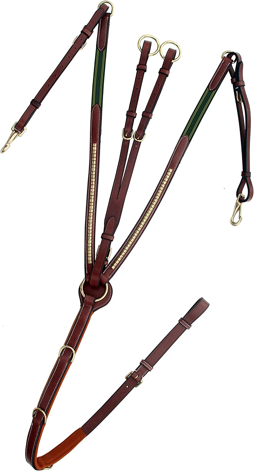 ExionPro Brass Clinched Soft Padded Jacksonville Mall Breastplate Horse Runni quality assurance with