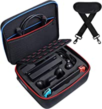 Kootek Large Shockproof Carrying Storage Case for Nintendo Switch, Hard Shell Travel Cases with 21 Games & Shoulder Strap for Switch Console, Pro Controller, Accessories Switch Dock, AC Adapter Cable