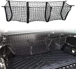 Three Pocket Pickup Truck Cargo Net Fit for Toyota Tacoma 2013-2019 Cargo Organizer Storage Net
