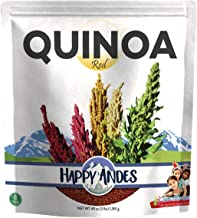 Happy Andes Red Quinoa 3 lbs - Non Gluten, Whole Grain Rice Substitute - Ready to Cook Food for Oats and Seeds Recipes - H...