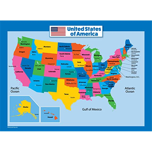 Us State Map: Amazon.com