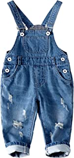 Kidscool Baby & Toddler Adjustable Ripped Fashion Jeans Overalls