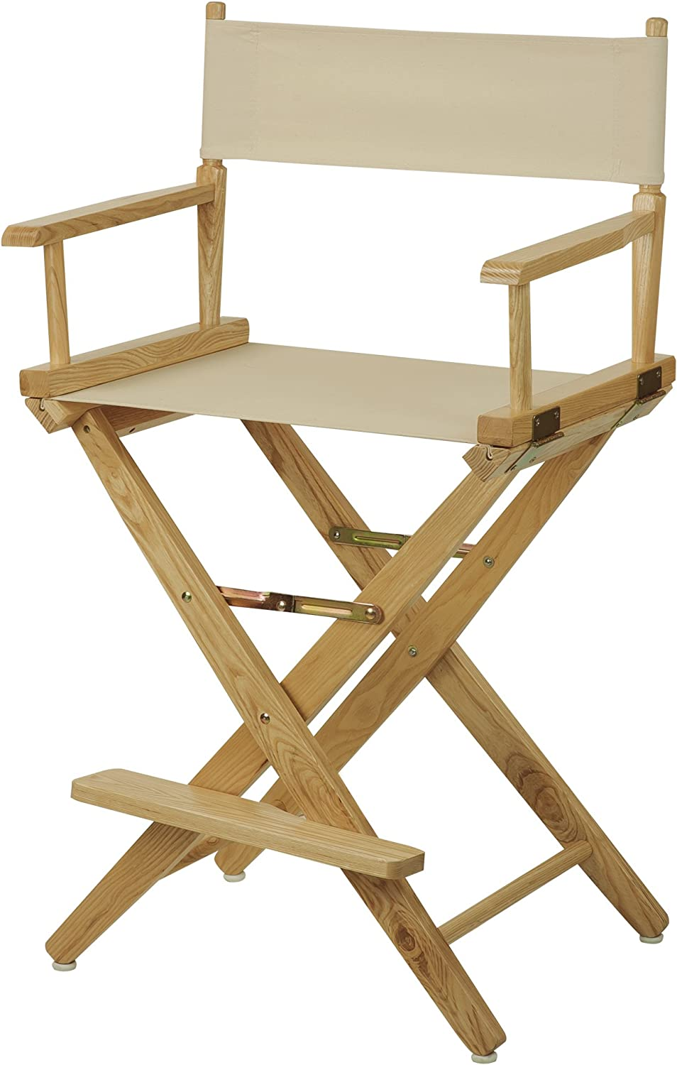 American Trails Extra-Wide Premium24 Director's Chair Natural Frame with Natural Canvas, Counter Height