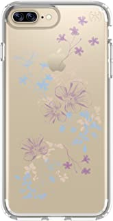 Speck Products Presidio Clear + Print Cell Case for iPhone 7 Plus -ChalkyFloral Purple/Clear
