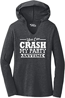 Comical Shirt Ladies Crash My Party Anytime Shirt Country Song Hoodie Shirt