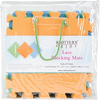 Knitter's Pride Lace Blocking Mats (9 Pack), Colors May Vary