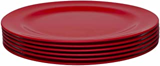 Zak Designs 0078-1610-ISET Ella Salad Plates, Set, Red SP