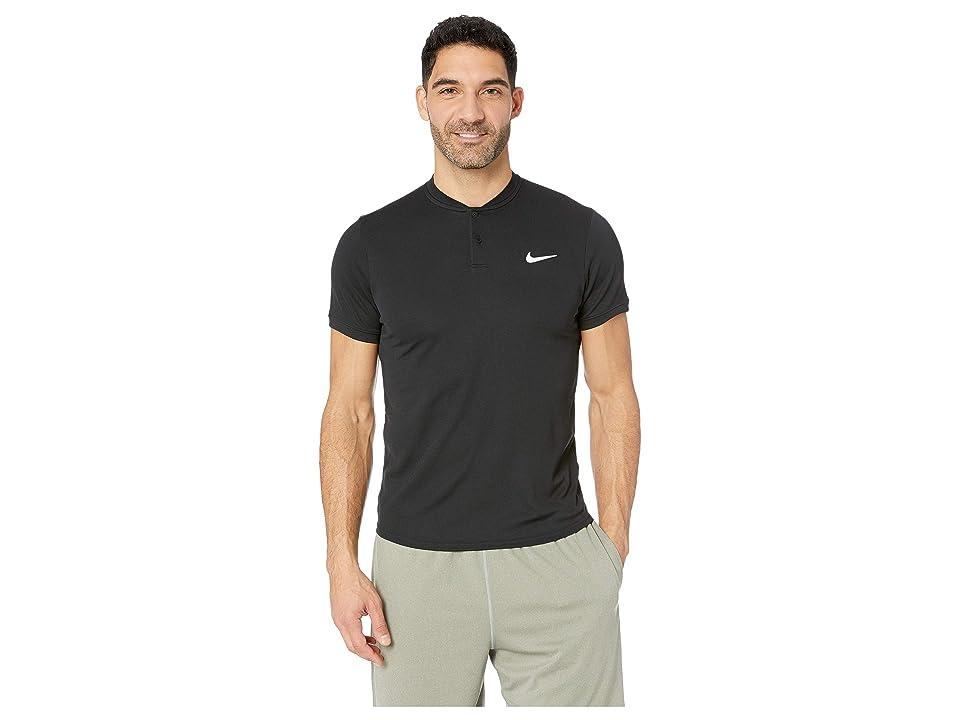 Nike NikeCourt Dry Polo Blade (Black/White) Men