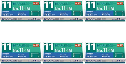 high quality Brand Office 4 All Max No. 11-1M Staples for 2021 Vaimo Staplers, Galvanized discount Finish 2 Set of 6 Pack sale