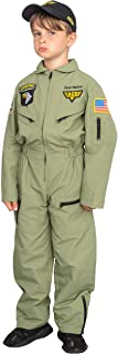Personalized Custom Air Force Pilot Child Halloween Costume Jumpsuit and Hat Set