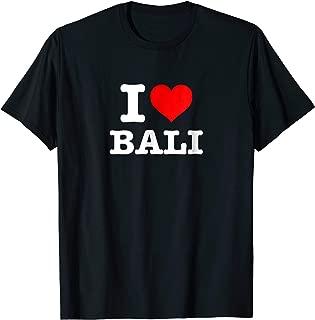 I Love Bali T-Shirt - I Heart Bali Shirt