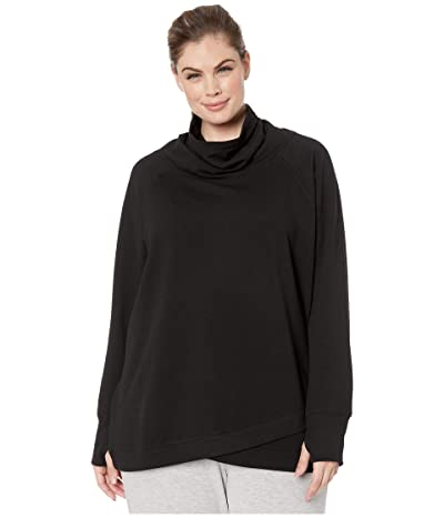 Jockey Active Plus Size R R Cowl Sweatshirt (Black) Women