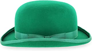 Belfry Mickey Irish Green Derby Hat with Feather and Liner