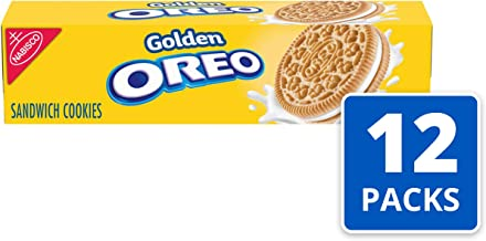 Oreo Golden Sandwich Cookies, 5.5 Ounce (Pack of 12)
