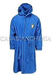 Accappatoio Uomo con Cappuccio Milan Calcio *02959 Bagno Piscina Mare