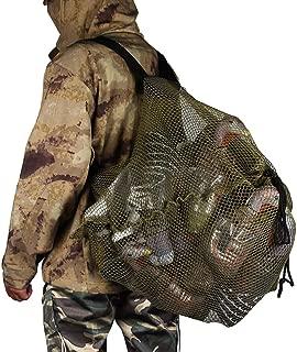REEKGET Mesh Decoy Bag Duck Goose Turkey Hunting Back,Large-Capacity Bait Bag,Drake Decoys Bag
