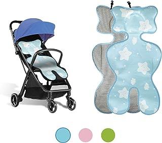 Sitzauflage sommer babyschale, kinderwagen einlage sommer, Sitzeinlage babyschale, Atmungsaktive universal sitzauflage, für babyschale autokindersitz schützt vor flecken ice silk blue