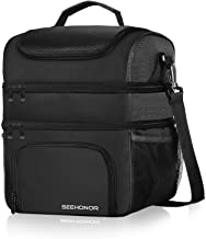 Insulated Lunch Bag, 18L Leakproof Reusable Large Capacity Bag with Adjustable Strap,..