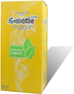 SMIZZLE 800 ct Pre-Rolled Organic Hemp Cones, King (110mm) Tower Bulk Pack for Dispensaries