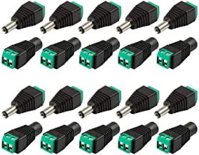 10 Pairs DC Male and Female Power Connector, 2.1mm X 5.5mm 12V DC Power Cable Jack Adapter Connector Plug for Led Strip CC...