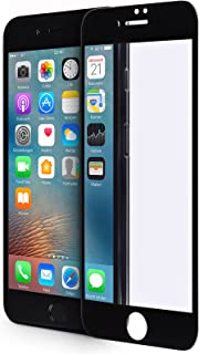 WIIUKA Panzerglas   Protect 3D   für Apple iPhone 7 Plus und iPhone 8 Plus, Schwarz, schützt die komplette Frontseite, gehärtetes Glas, schmutzabweisender Oberflächenbeschichtung, Premium Schutzfolie