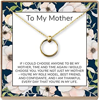 Mother Daughter Gift Necklace, Gifts for Mom, Mom Necklace, 2 Linked Circles
