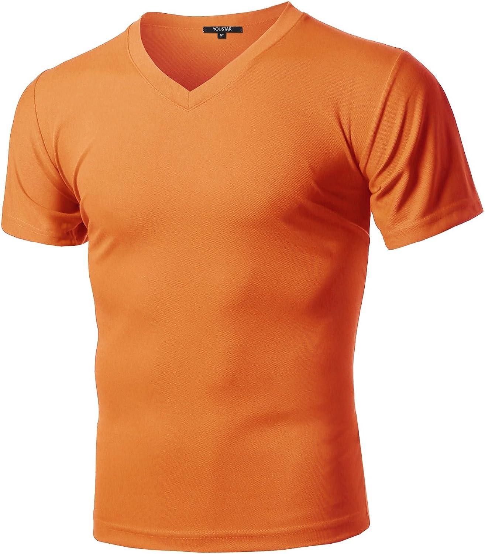 Xpril Men's Solid Cotton Soft Coolmax Active Short Sleeve VNeck TShirt Tee