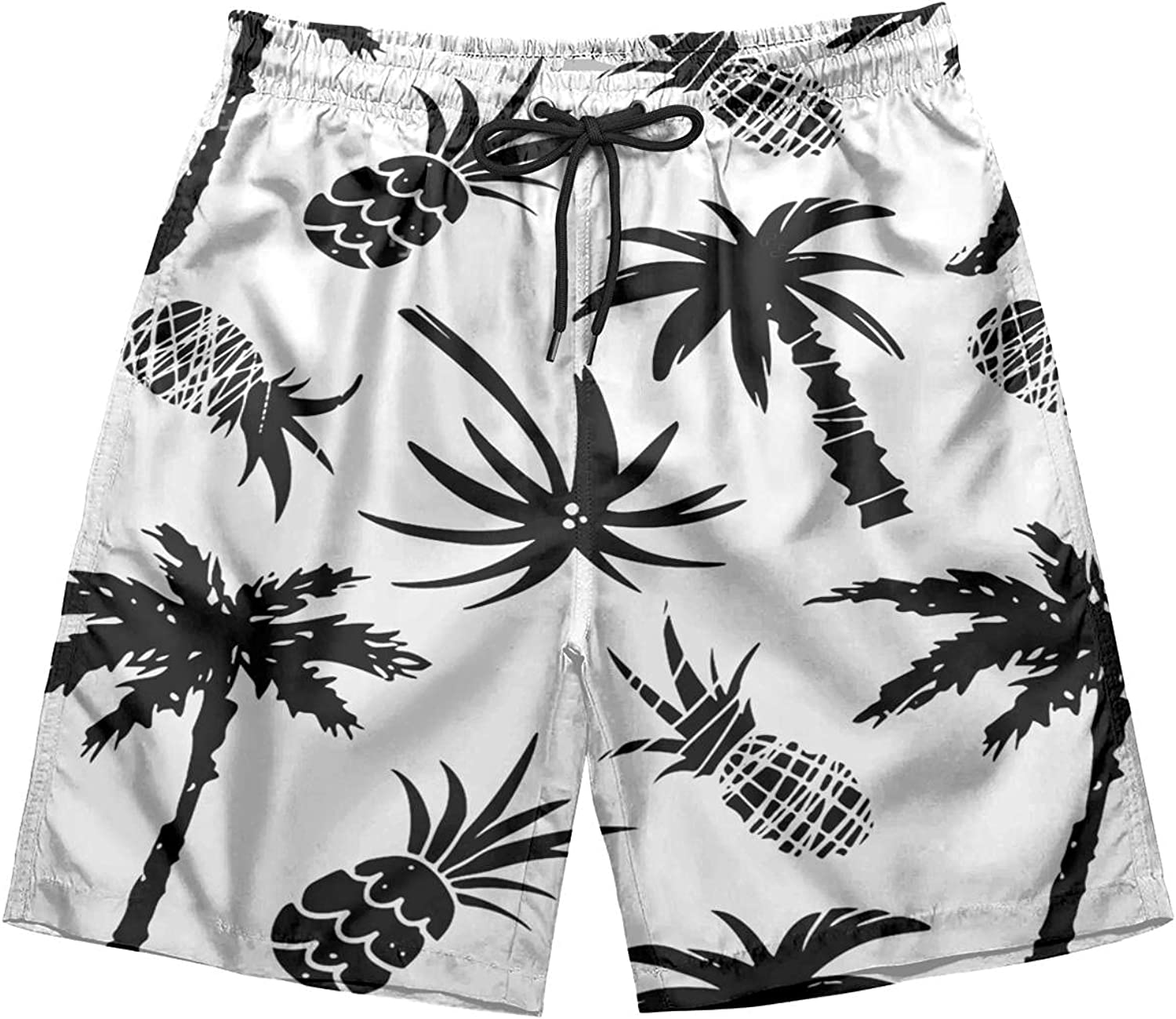 Adult Vintage Swim Trunks Quick Dry Nautical Boat Anchors Helm Lighthouses Beach Shorts with Waist Drawstring Swimwear