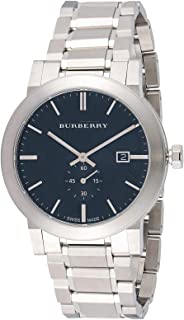 Burberry Men's Black Dial Stainless Steel Band Watch - BU9901
