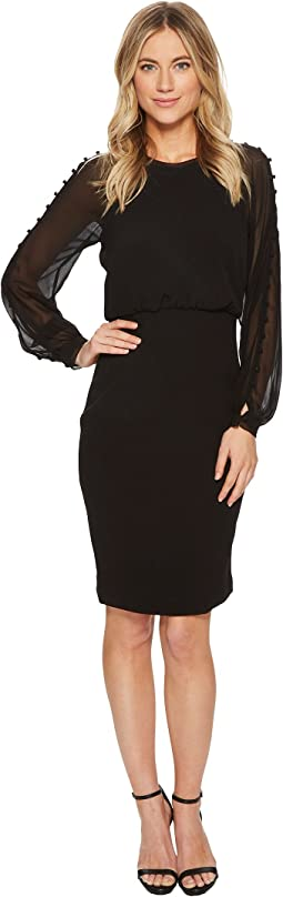 Badgley Mischka Button Sleeve Day to Evening Dress