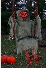 3 Foot Swinging Dead Pumpkin Reaper Halloween Prop