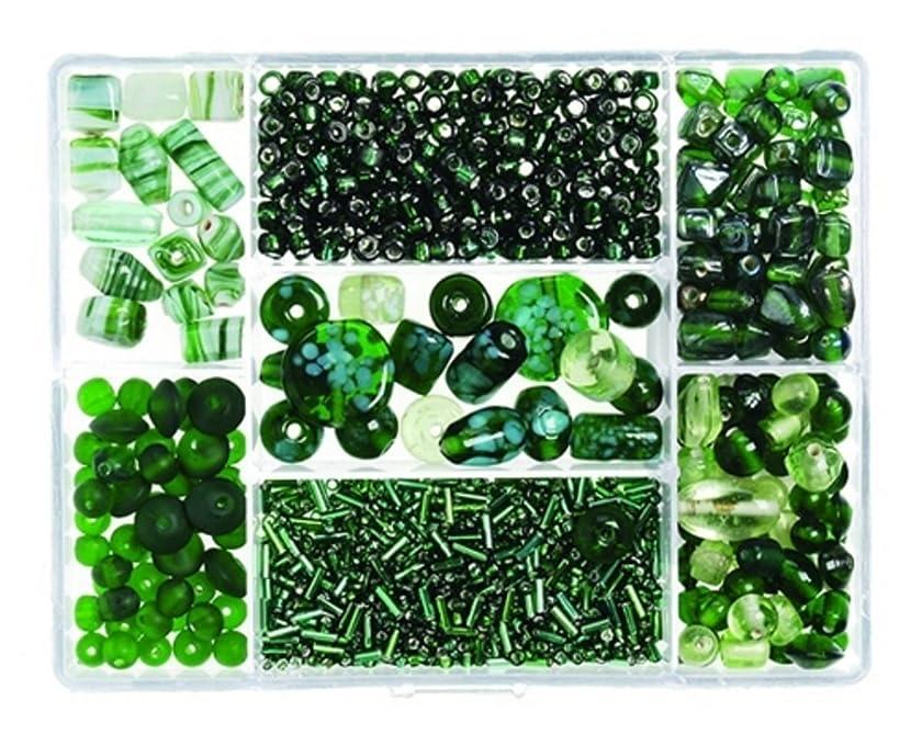 Darice(R) Glass Bead Box - 110gr/Green