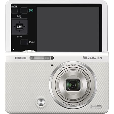 CASIO デジタルカメラ EXILIM EX-ZR50WE 1610万画素 自分撮りチルト液晶 メイクアップトリプルショット ホワイト