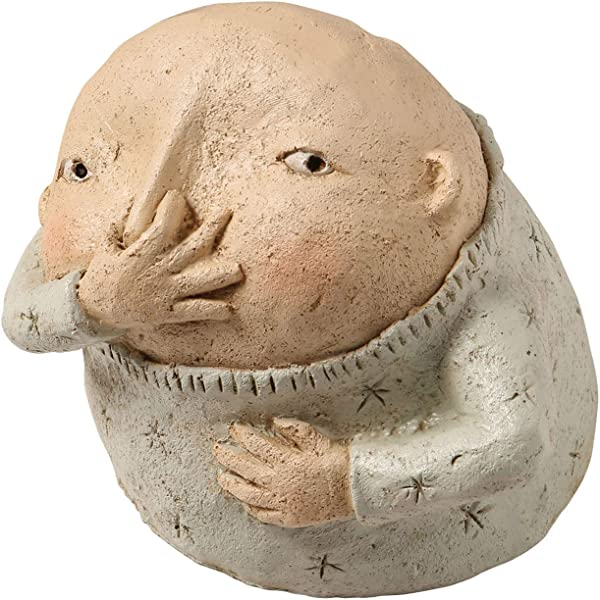 艺术神器男孩抱鼻子雕塑原始庸俗雕像浴室装饰
