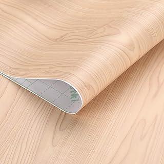 KINLO Pegatina de Mueble de Madera Ropa 061 * 5M Autoadhesivo Papel Pintado Impermeable para Muebles/Cocina/Baño Color (1...