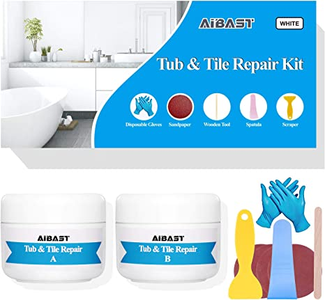 Amazon Com Tub Tile And Shower Repair Kit Fiberglass Repair Kit 3 5 Oz Porcelain Repair Kit Bathtub Repair Kit White Toilet Ceramic Repair Kit For Cracked Bathtub Scratches Shower Bases Kitchen Dining