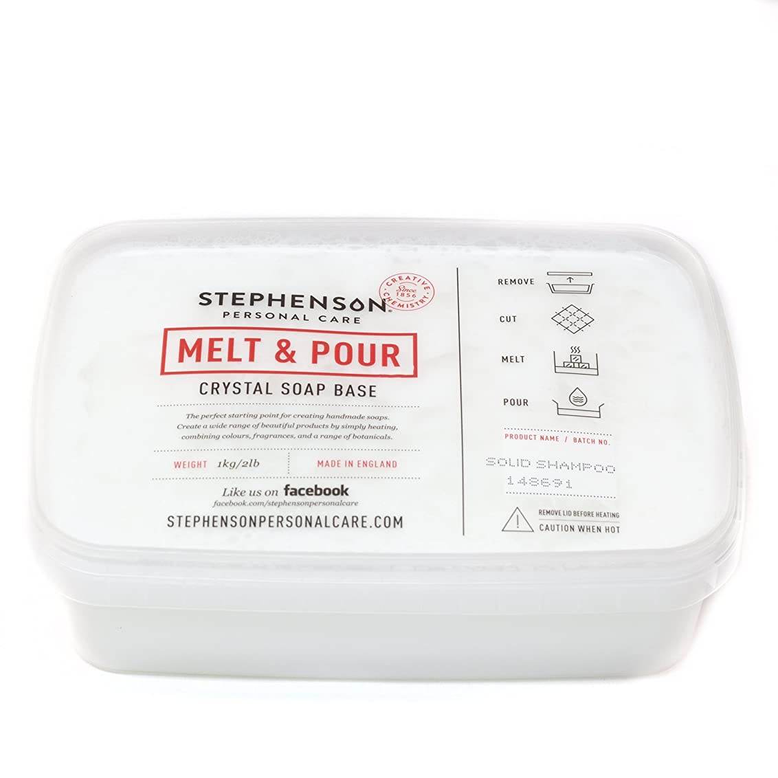レーダー野望記念碑的なMelt and Pour Soap Base - Solid Shampoo SLS FREE - 1Kg