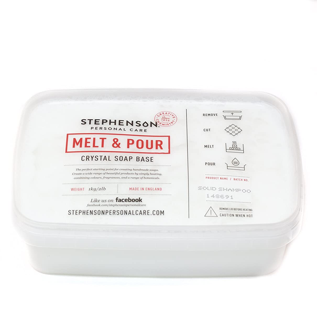 ピックドロップ海上Melt and Pour Soap Base - Solid Shampoo SLS FREE - 1Kg