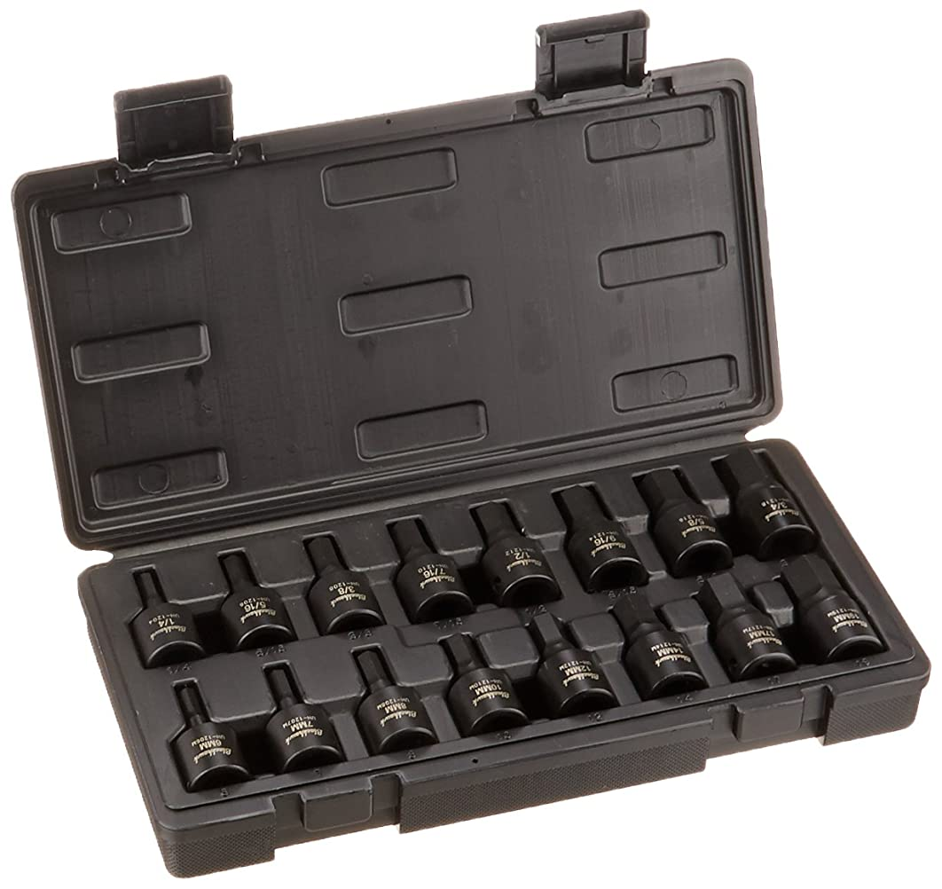 Blackhawk By Proto UH-1216CS Drive Hex Bit Impact Socket Set, 1/2-Inch, 16-Piece