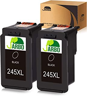 JARBO Compatible for Canon PG-245XL PG-245 245 245 XL PG-243 243 Black Ink Cartridge, 2 Black, High Yield, for Canon PIXMA MG2520 MG2920 MG2922 MG2924 MG2420 MG2522 MG2525 MG3020 MG2555 MX490 MX492