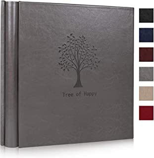 RECUTMS Photo Pictures Album 4x6 600 PhotosLarge PU Leather Cover 5 Pockets per Page Each Pages Holds 3 Horizontal and 2 V...